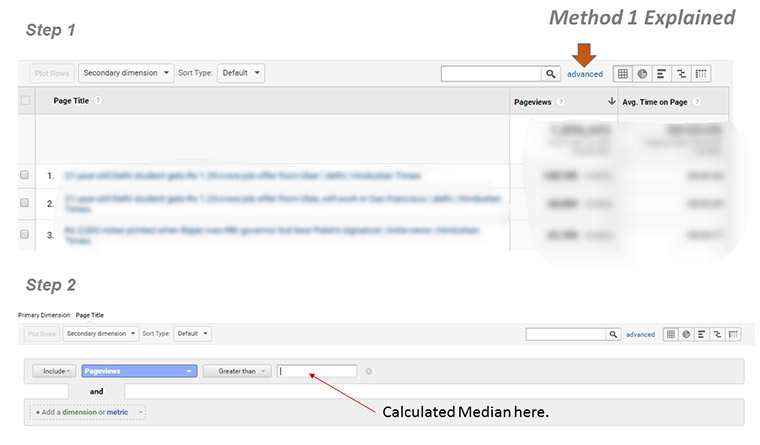 This chart shows advanced settings in Google Analytics where filters should be set.