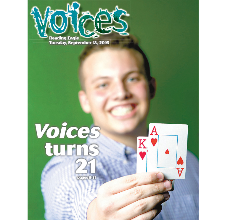 Voices, the teen section of the Reading Eagle, made its debut in September of 1995.