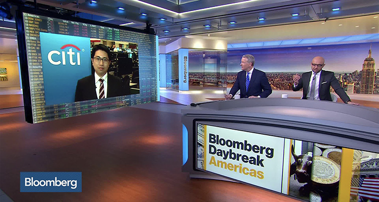 A five-minute podcast is produced for each region, and video clips of the Bloomberg Daybreak television programme are available.
