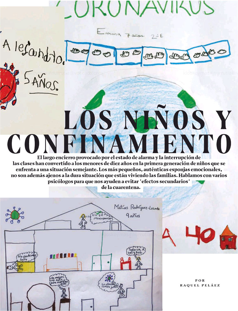 After psychologists analysed the meaning of children's drawings, XL Semanal ran a large feature on their findings.