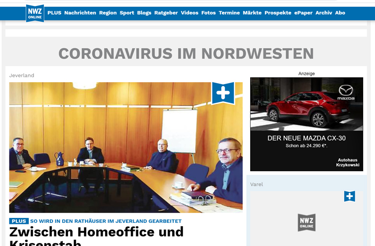 NWZ Mediengruppe has seen increased digital subscribers with the introduction of a Corona-Liveticker. Articles on the coronavirus pandemic have received more nearly 3 million views.