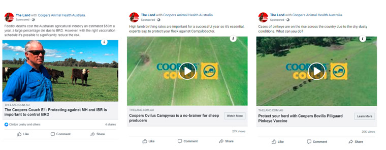 "The ""Coopers Couch"" series featured videos of agricultural experts discussing common issues and how Cooper's products could help resolve them."