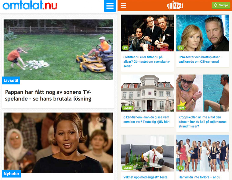 Omtalat, a BuzzFeed-like site targeting young audiences, debuted in 2014.