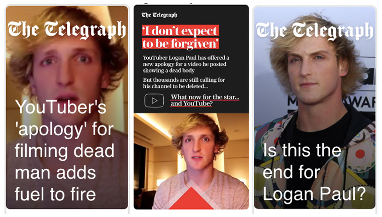 In response to Logan Paul's highly controversial decision to post a video of a suicide, The Telegraph developed a Snapchat Discover series that dug deeper than just reporting on the scandal.