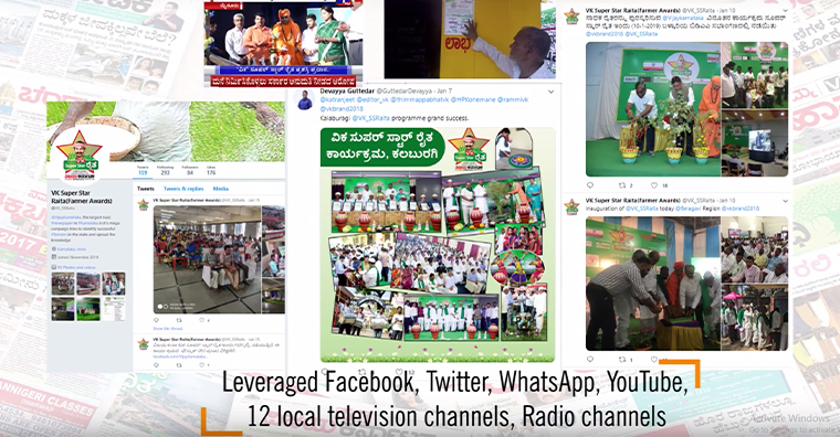 Social media played an important role in the Super Star Raita campaign.