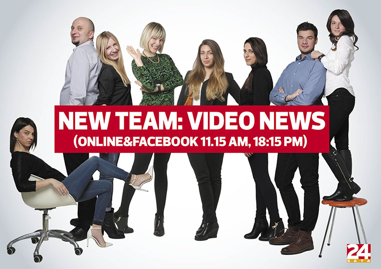 The new video news team of 24sata successfully competes with television news through innovation and partnership.