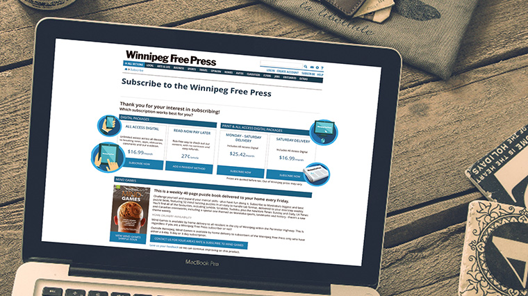 MPP Global's eSuite cloud platform helped Winnipeg Free Press develop a new revenue stream.
