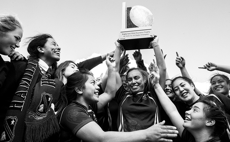 Waikato Times journalists took a fresh approach in a video about girls' rugby champions.