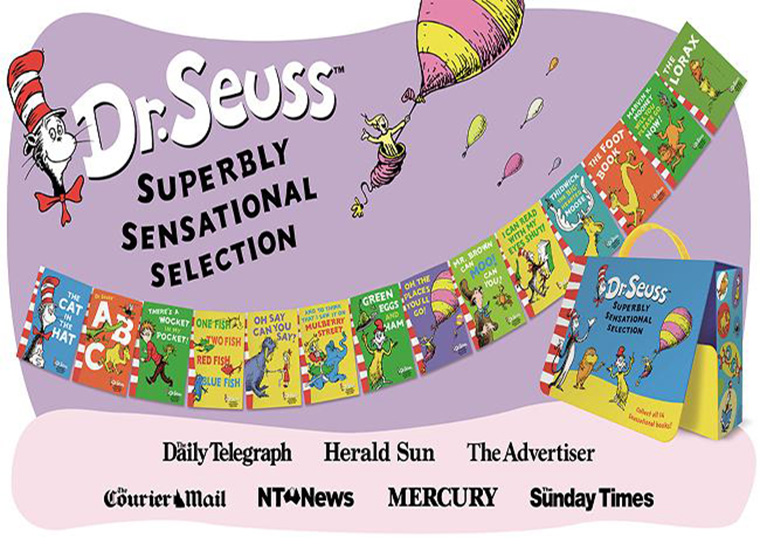 A curated selection of Dr. Seuss books was part of the Raise a Reader campaign to increase literacy in Australia.