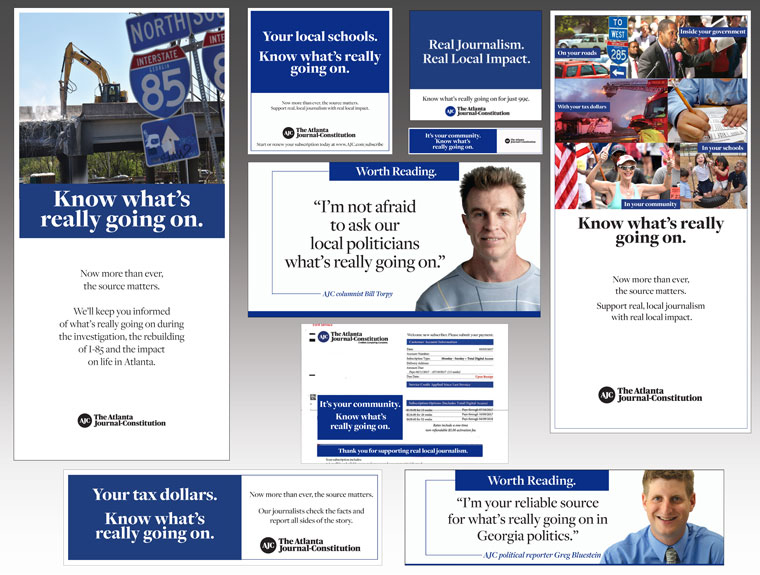 Atlanta Journal-Constitution built an entire brand campaign around the four value themes. Cox Media Group created a playbook for other local markets to do the same.