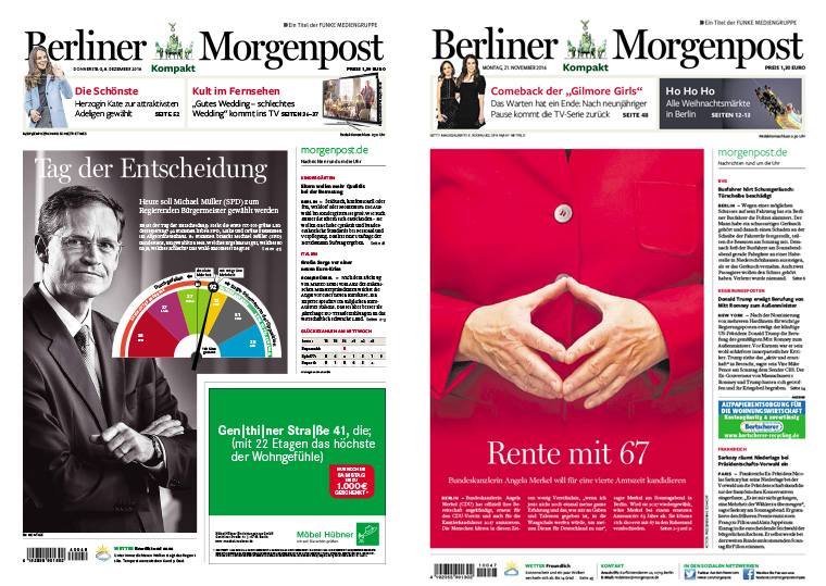 The Berliner Morgenpost conducted market research, which led to its decision to roll out a compact, tabloid option for readers.