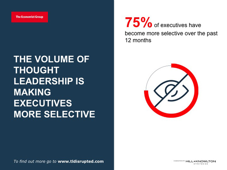 """Thought Leadership Disrupted,"" a study by The Economist, provides insight into becoming a thought leader — and partner."