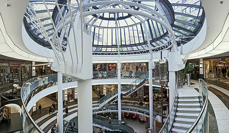 After moving out of its newspaper building, the media company transformed the space into a mall in downtown Düsseldorf.