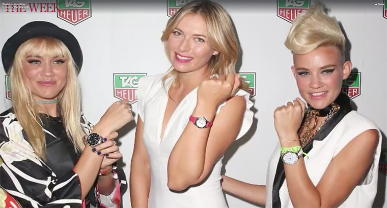 An example of a video about Maria Sharapova produced by The Week's journalists using Wochit.