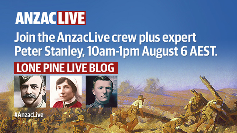 This is one example of a live online interaction for #AnzacLive.