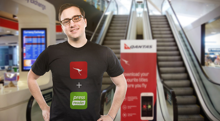 "Qantas ""Change Champions"" introduced passengers to the content offered by PressReader."