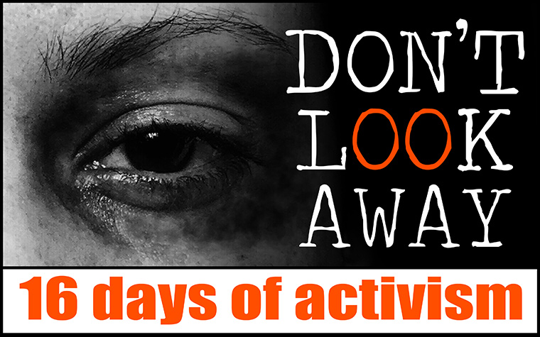 Don't Look Away was a video series to raise awareness about violence against women and children.