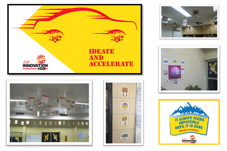 An internal campaign encouraged employees across many teams to submit their innovative ideas in drop boxes or via e-mail.
