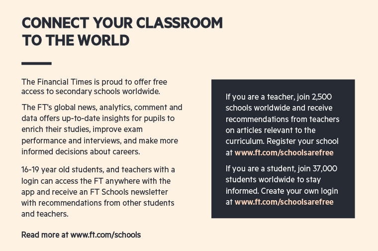 The FT offers students free access to a wide range of content and educational tools.