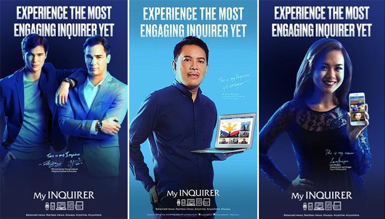 "The powerful ""day in a life"" campaign depicted ordinary people and celebrities using Philippine Daily Inquirer in different contexts. This approach effectively targeted three very different audience groups, while still having a unified message and design."