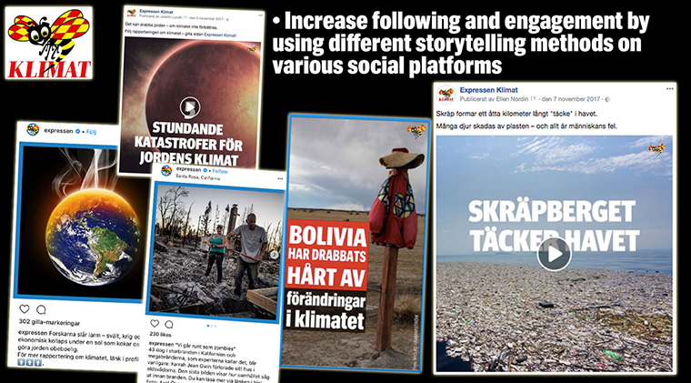 Expressen revamped its climate change coverage to make it more exciting across all platforms and grab readers' attention in new ways.