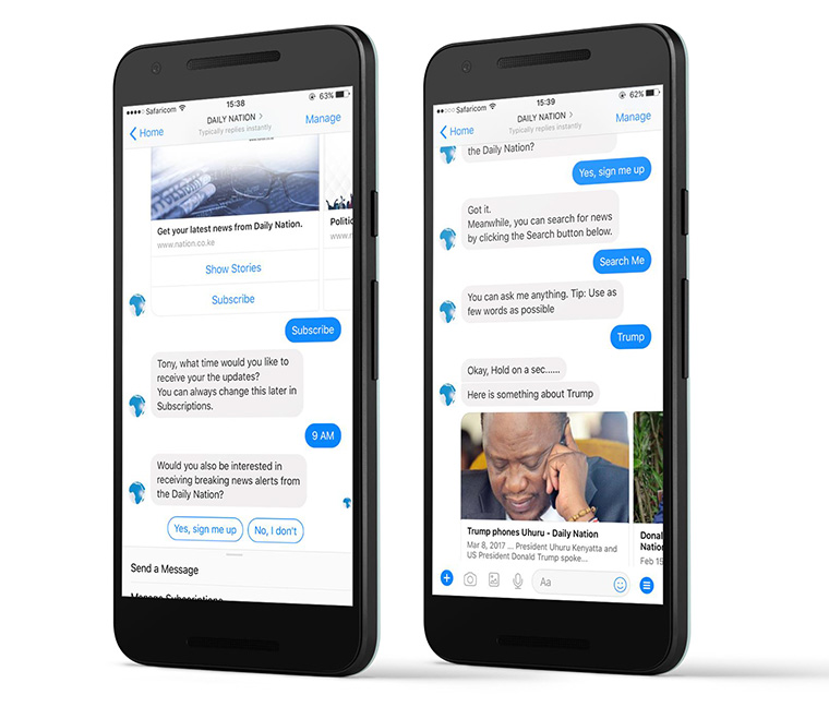 The bot works seamlessly with Messenger on any device to make the experience nearly effortless for the user.