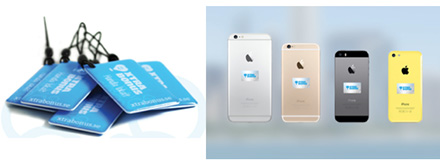 NFC key fobs and NRC stickers placed on phones help in advertising NTM's XTRABONUS buyer clubs fo Söderköping