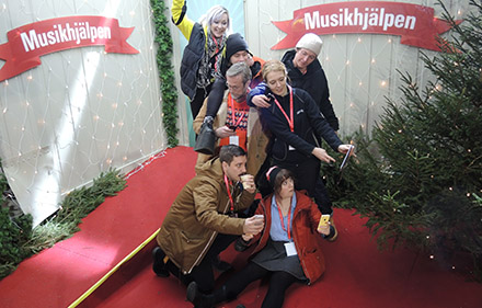 Musikhjälpen broadcast venue that aims to engage young people.