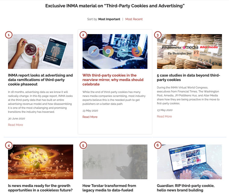 INMA Knows debuts with deep, curated dives into six topics, including Third-Party Cookies and Advertising.