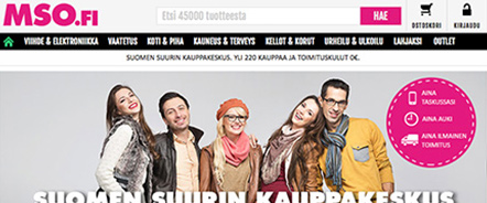 Finland's largest online shopping site sanoma ecommerce