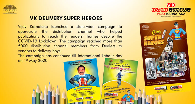 The VK Delivery Super Heroes campaign recognised the people who went to great lengths to safely deliver the printed newspaper throughout the pandemic lockdown.