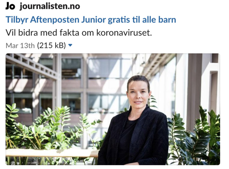 Several news outlets picked up the story about Aftenposten Junior's campaign.