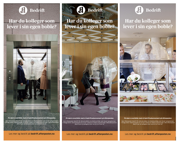The first campaign did not achieve Schibsted's goals of attracting explaining its offer to its corporate audience.