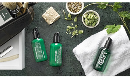 Assortment of Carlsberg Brewery's newly launched shaving line.