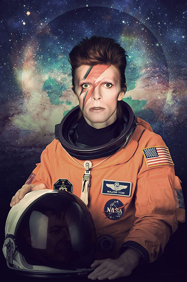 "David Bowie died on January 10, 2016, from liver cancer. The character ""Major Tom"" was featured in several of his songs."