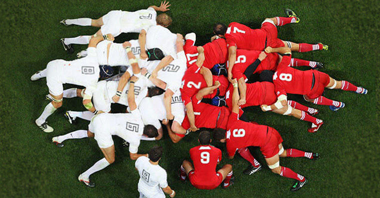 "The rugby term ""scrum"" can also be applied to the publishing industry."