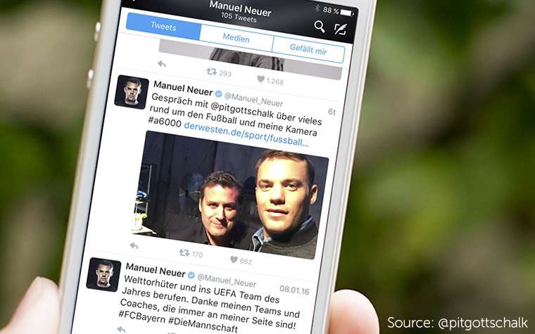 Manuel Neuer has a personal brand media companies envy.