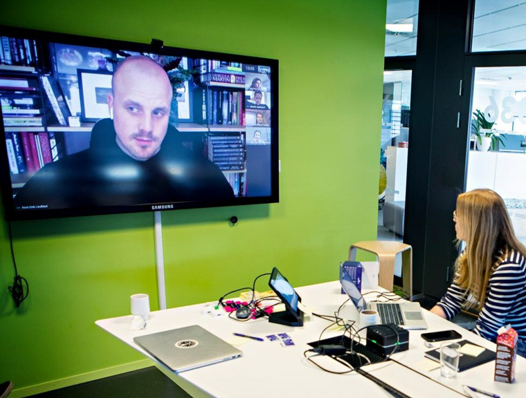 Staff has been meeting virtually from the office, their homes, and around the globe.