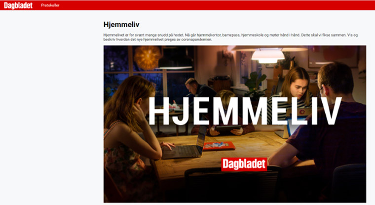 Dagbladet also developed its own service where Norwegians could share their private pictures from home life during the coronavirus pandemic.