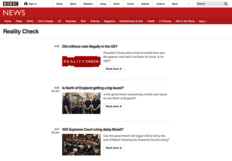 The fact-checking team at BBC is committed to uncovering the truth.