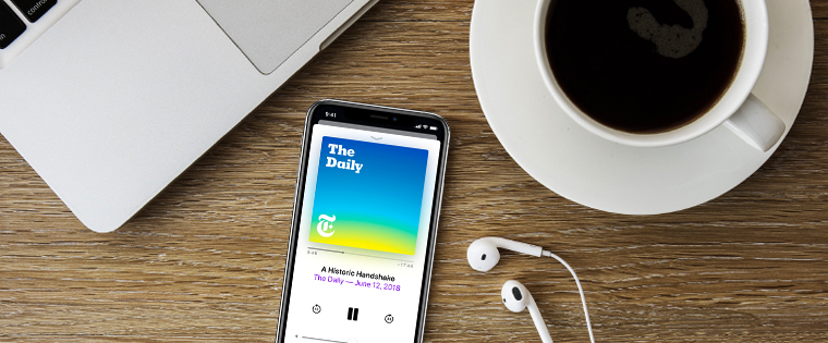 Podcasts allow people to engage in content at their own time and on their own terms.