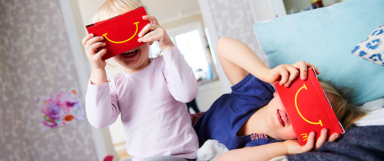McDonald's is incorporating VR technology into its Happy Meals.