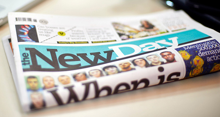 The New Day, a print-only publication, launched without a digital presence.