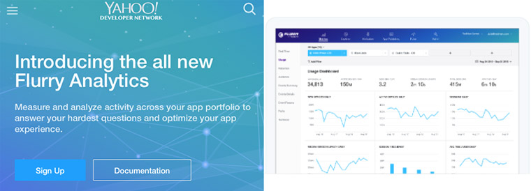 Flurry allows developers to track app analytics.