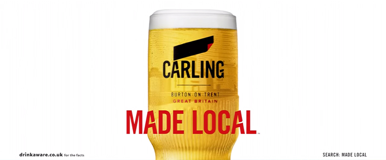 Brands like Carling are taking advantage of the power of localised messaging.