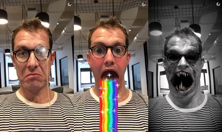 Snapchat has many visual options — video and still shots — for advertisers to reach a young audience.