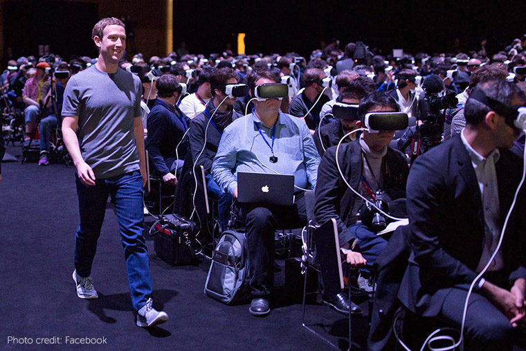 Virtual reality, a technology touted by Facebook's Mark Zuckerberg, was a hot topic at the Mobile World Congress this year.