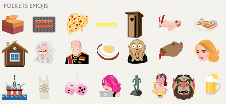 VG capitalised on local figures and icons to create its own emoji keyboard.