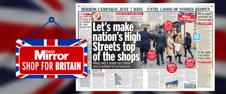 The Daily Mirror encouraged people to shop locally. Photo courtesy: Newsworks | Daily Mirror