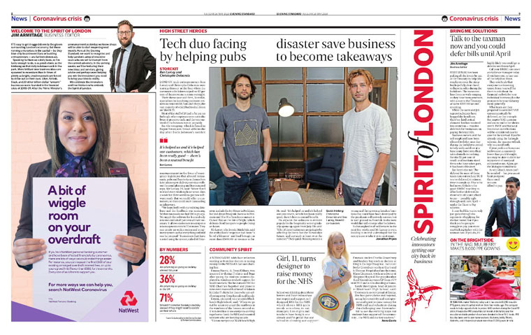 The Evening Standard supported local entrepreneurs. Photo courtesy: Newsworks | Evening Standard
